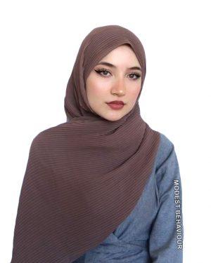 Hazelnut Crinkled Chiffon Hijab