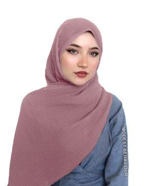 Pink Tea Crinkled Chiffon Hijab