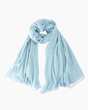 Sky Blue Chiffon Hijab