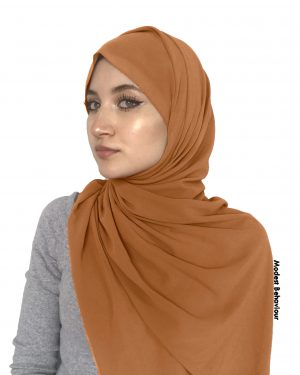 Teddy Brown Chiffon Hijab