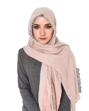 Blush Crinkled Hijab