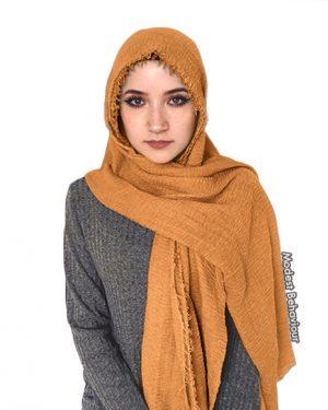 Honey Brown Crinkled Hijab