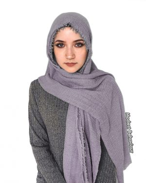 Lavender Crinkled Hijab