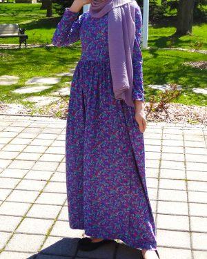 70s Retro Floral Maxi Dress