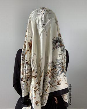 Black Ivory Square Satin Hijab