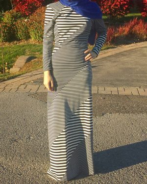 Chic Striped Maxi Dress