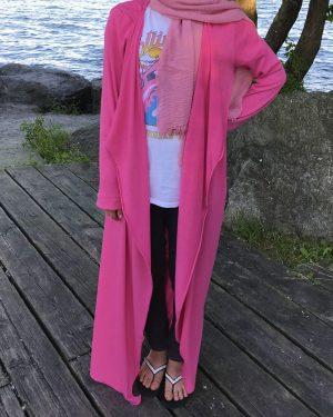 Hot Pink Waterfall Cardigan