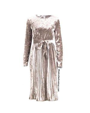 Pleated Velvet Dress Top