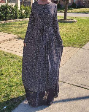 Retro Button Down Maxi Dress