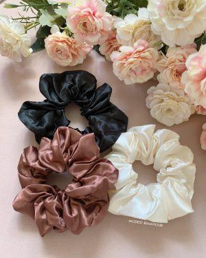 Silky Scrunchies Set