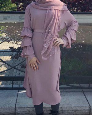 Triple Sleeved Pearl Dress Top