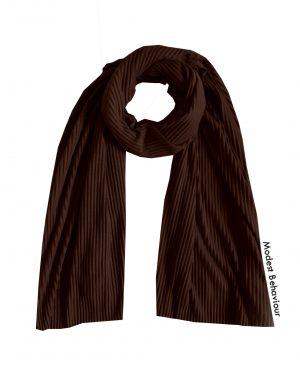 Chocolate Brown Crinkled Jersey Hijab