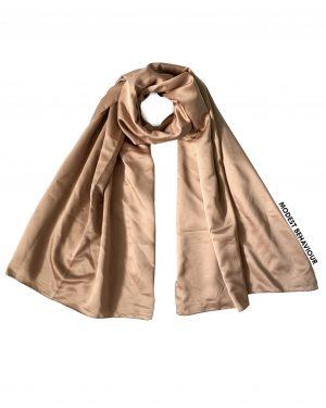 Caramel Brown Satin Hijab