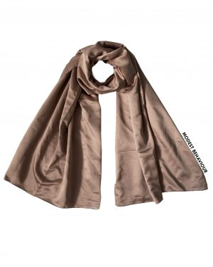 Hazelnut Brown Satin Hijab
